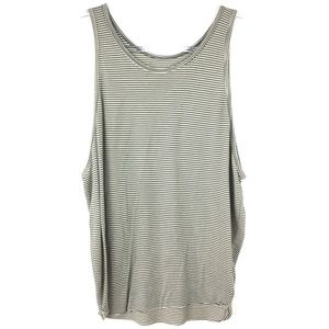 We The Free Green & Beige Striped Tank Top Small